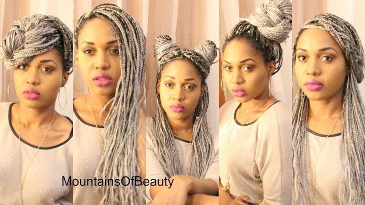 Zendaya Hairstyles Braids: GREY OMBRE BOX BRAIDS + HOW I STYLE
