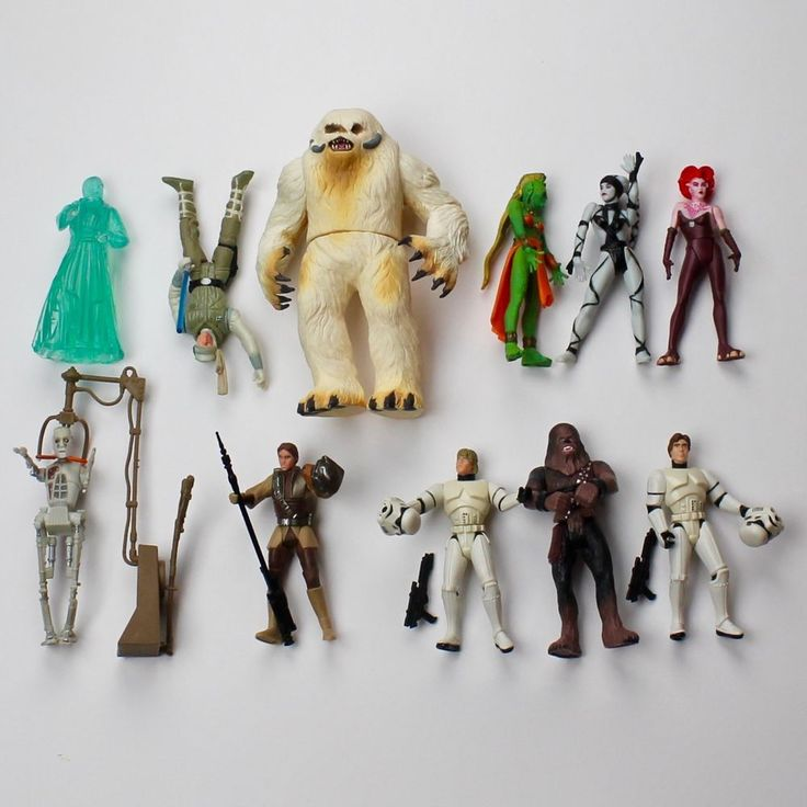 STAR WARS LOT of 11  Loose Figures & Accessories Wampa Beast 1997 1998 Kenner  #Kenner