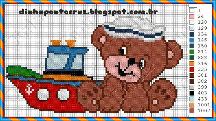 Bordadeiras de plantão!  Hoje trouxe as novas versões dos meus ursinhos para enxoval infantil:     e aqui o monograma pequeno para facilita...