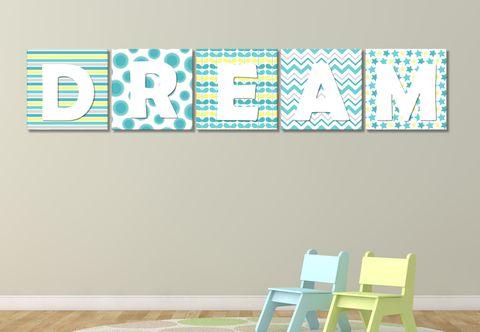 Colour Blocks - Sky - Wall Print Decor Art