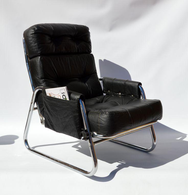 Fotel rozkładany lata 70