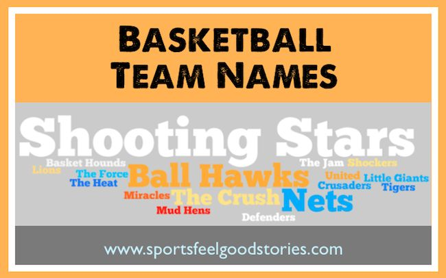Check out these lists of basketball team names to come up with the best nickname for your youth basketball team, intramural team and more. Also, a link to fantasy basketball team names.
