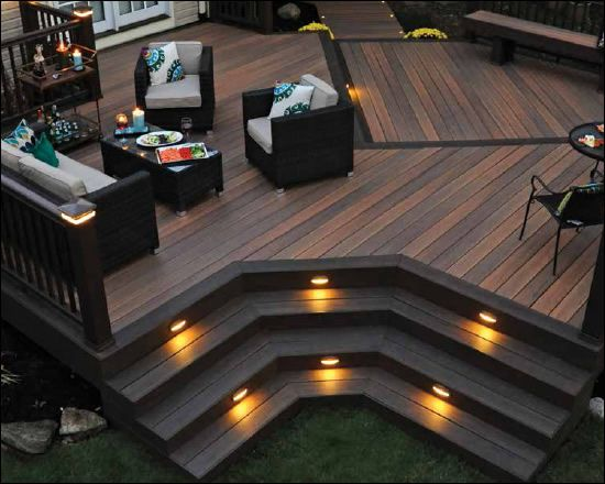 Timbertech legacy deck boards deck color tigerwood with mocha accents radiancerail system