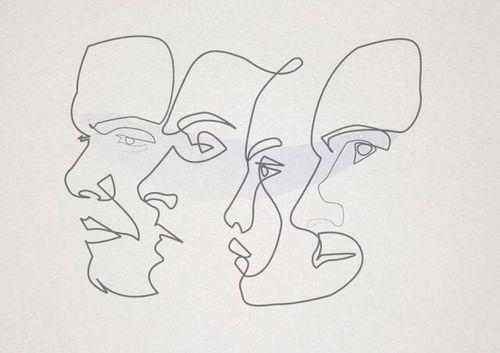 line portraits - wire idea
