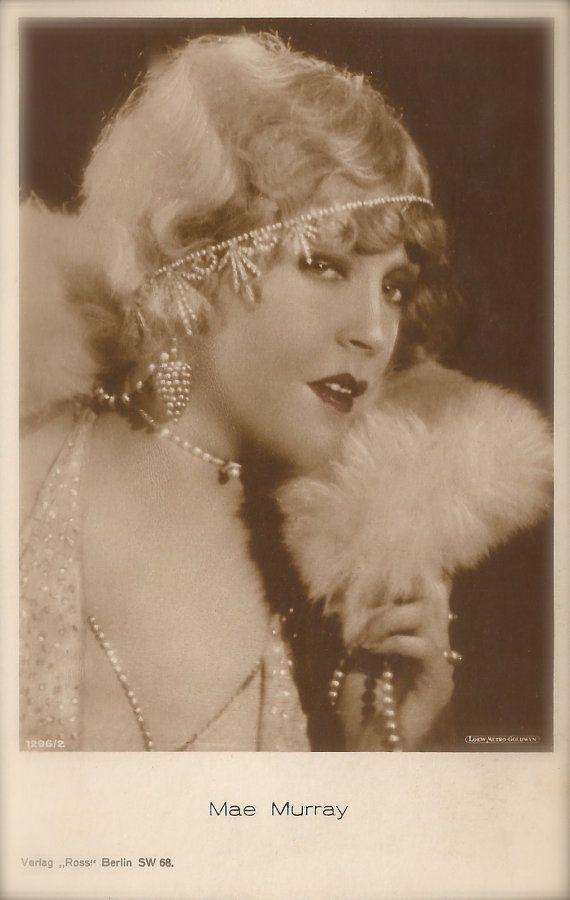 "Mae Murray, ""The Girl with the Bee-Stung Lips"", Hollywood Silent Film Era American Actress Ziegfeld Follies Cabaret, Original 1920s Postcard"
