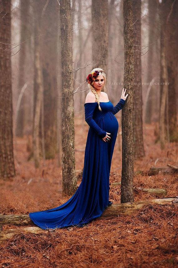 Maternity Gown Miriam Gown Long Sleeve Maternity Dress Off The