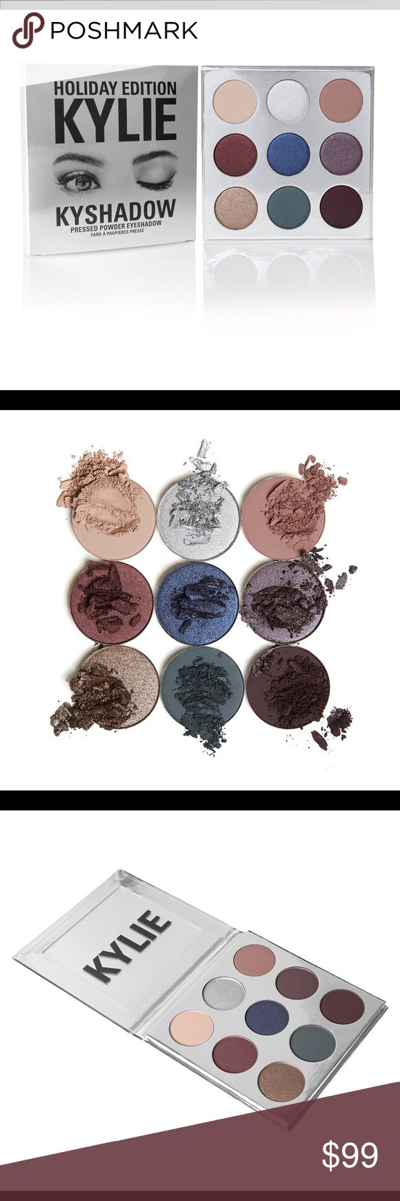 /Nip/KYSHADOW HOLIDAY PALETTE! Limited Edition! NIP/2016 Kyshadow Holiday Palette/LMT EDITION/9shadows/Infused w diamond powder/pkged in lmt edt silver 4 HOLIDAY SEASON:9 Shadows: 1)SugarCookie(satin wrm nude)2)Frosty(metal platinmslv)3)Chestnut(mat dustymauve)4)Mittens(metal mahoganyred)5)Winter(metal denimblue)/6)Nutcracker(metalslv-plum)7)Gingerbread(metalslv-bronze) /8)Evergreen(matdpteal-grn) 9)SilentNight(matblkplum) Talc+paraben FREE/buildable+velvety texture. NO REFUND/RETURNS ON NIP…