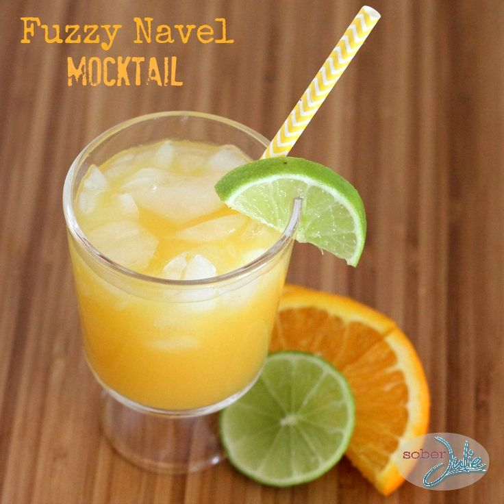 Today we ignored Winter & had fun coming up a Fuzzy Navel Mocktail recipe and pretending we're on a beach.