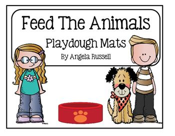 This unit provides you with 12 cute playdough mats. The children will have fun creating food for the animals. They will make fish for a penguin, worms for a bird, hay for a horse, acorns for a squirrel, cheese for a mouse, corn for chickens, dog food for a puppy, bananas for a monkey, flies for a frog, leaves for a giraffe, grass for a cow, and carrots for a rabbit.