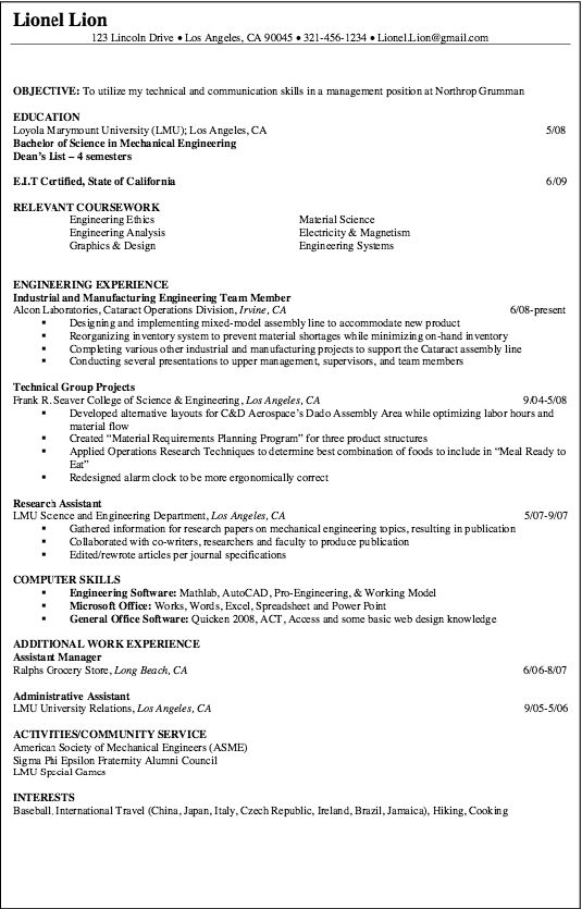 example of technical group project  free resume sample