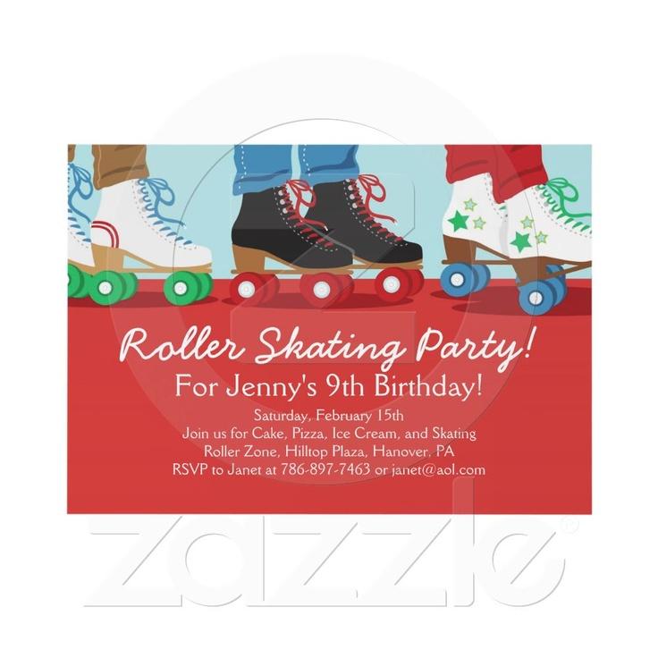 Boys Roller Skating Birthday Party Invitations    http://rlv.zcache.com/boys_roller_skating_party_invitations-p161526254429782713en75o_325.jpg