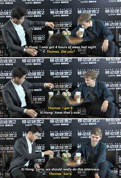 Maze Runner: The Death Cure cast - Ki Hong Lee and Thomas Brodie-Sangster