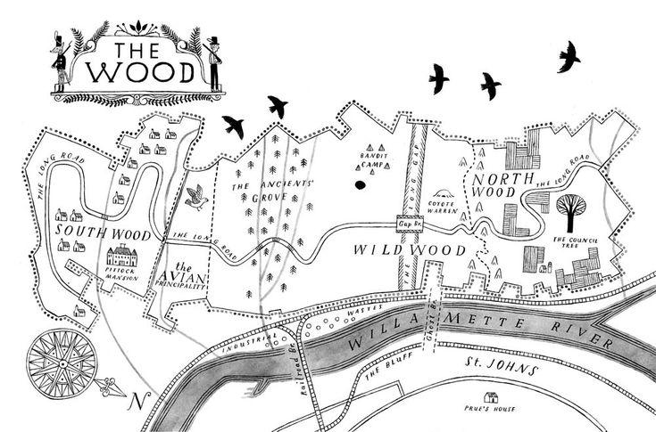 Wildwood Map by Carson Ellis
