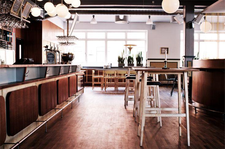 Bar, pallar, stolar, bord, mahogny, björk