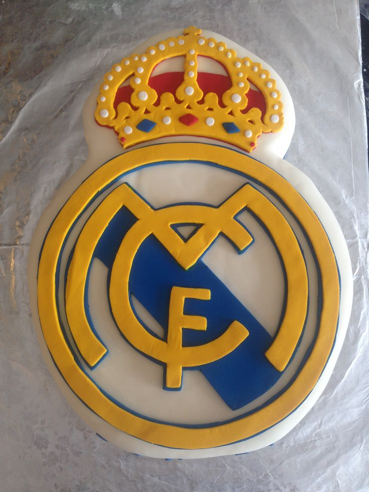 Real Madrid Cake Cakes Queques Pinterest Real