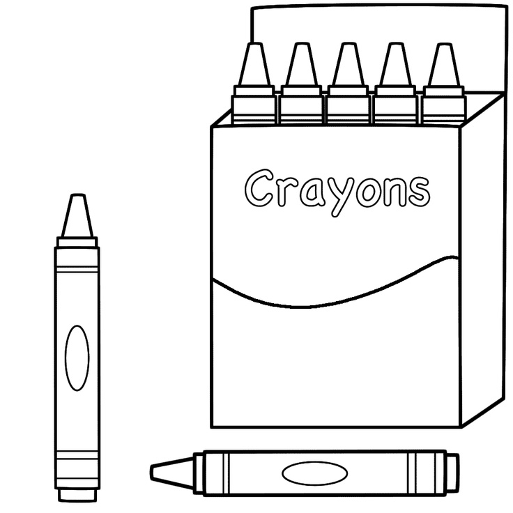 coloring page - Crayon Coloring Pages