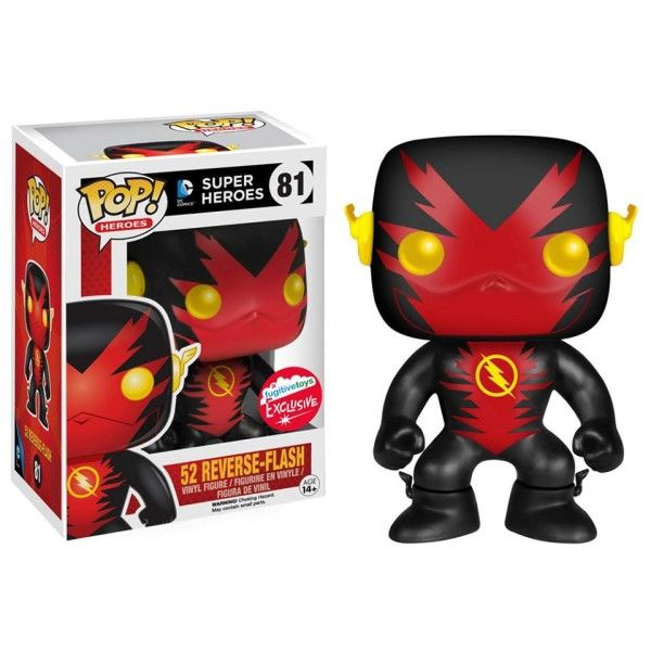DC Comics 52 Reverse Flash Pop figure by Funko, New York Con 2015 Fugitive Toys exclusive