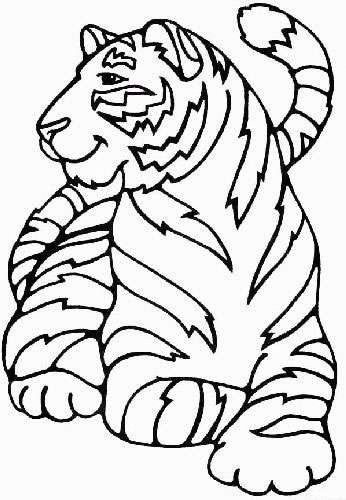 Tiger Coloring Pages For Kids. Print and Color the Pictures
