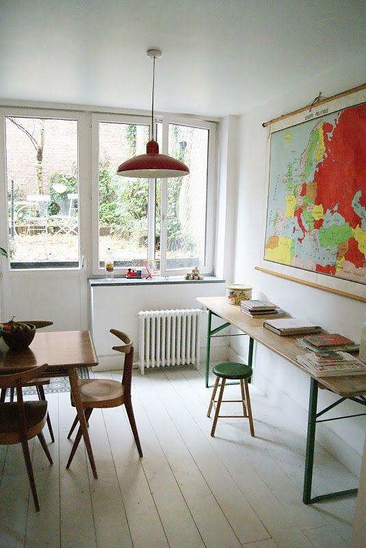 A world map, especially retro, dresses any room up