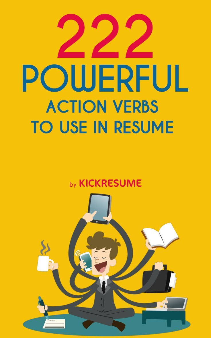 resume verbs active resume verbs