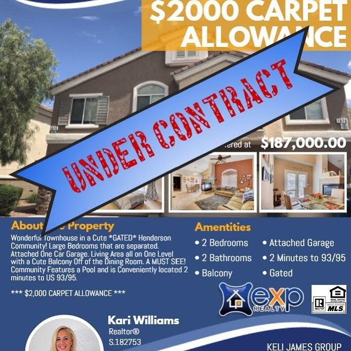 Another Listing Under Contract Top Realtor Attached Garage Henderson