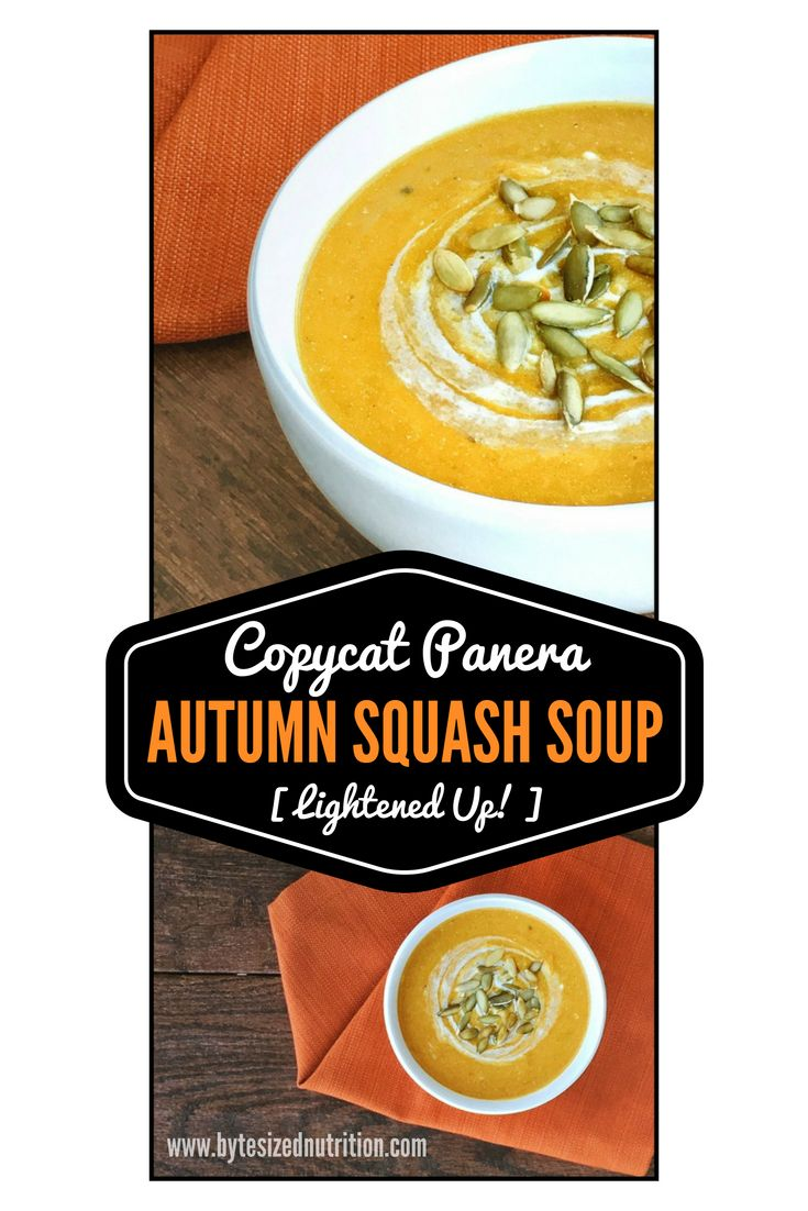Copycat Panera Autumn Squash Soup (DairyFree) Recipe