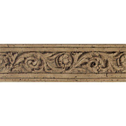 "Found it at Wayfair - Fashion Accents 13"" x 4"" Romanesque Decorative Listello in Flora Noce"