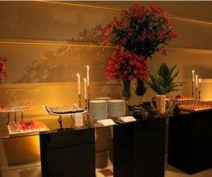 Charming Indoor Buffet Table Elegant Idea