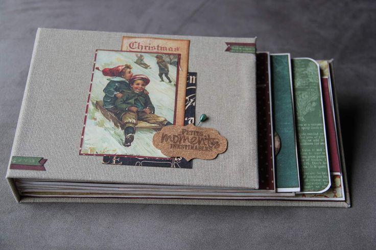 ... Parce que la période de Noël va bientôt commencer, je vais vous montrer un album réalisé l'an dernier, lors d'une crop avec Gaëlle. Vous ne le trouverez pas dans cette version sur son blog car j'ai changé les papiers.Diaporama :et vous... commencez-vous...