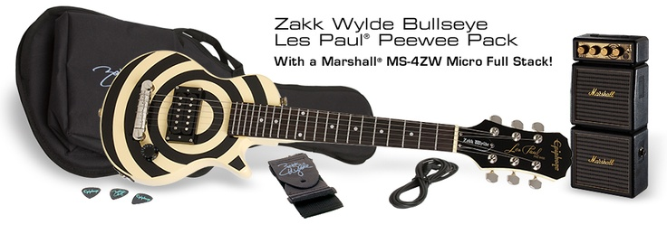 "Epiphone Zakk Wylde Les Paul PeeWee Pack s/ Marshall MS-4ZW Micro Stack (19"" Scale)"