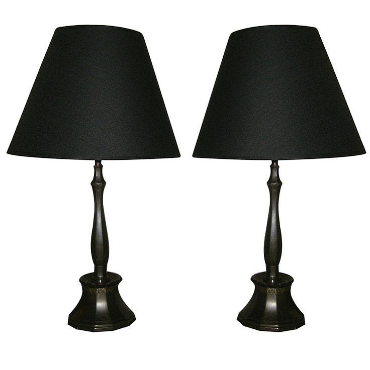 Pair Just Andersen Table Lamps, Denmark c1930s