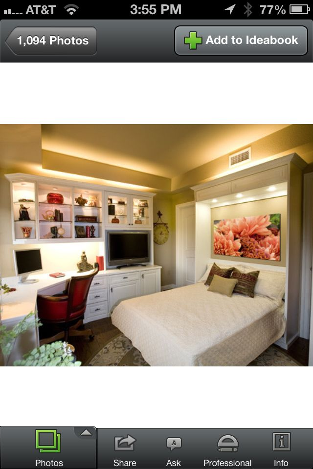 Siena Collection Home Office With Wall Bed Pic 2 Of 2 By Valet Custom  Cabinets U0026 Closets   Traditional   Home Office   San Francisco   By Valet  Custom ...