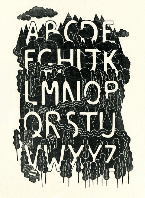 Jing Wei - Alphabet Forest for gallery Nucleus