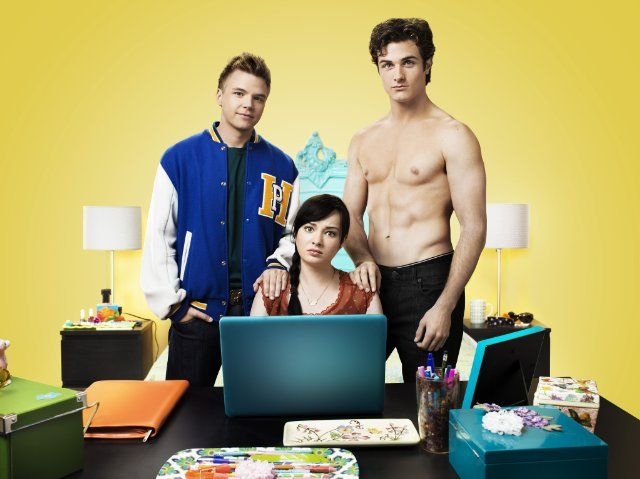 Still of Brett Davern, Beau Mirchoff and Ashley Rickards in Awkward.Couples Costumes Ideas, The Hunger Games, Guilty Pleasure, Hunger Games Book, Couple Costumes, Couple Halloween Costumes, Addict, Couple Costume Ideas, Couples Halloween Costumes