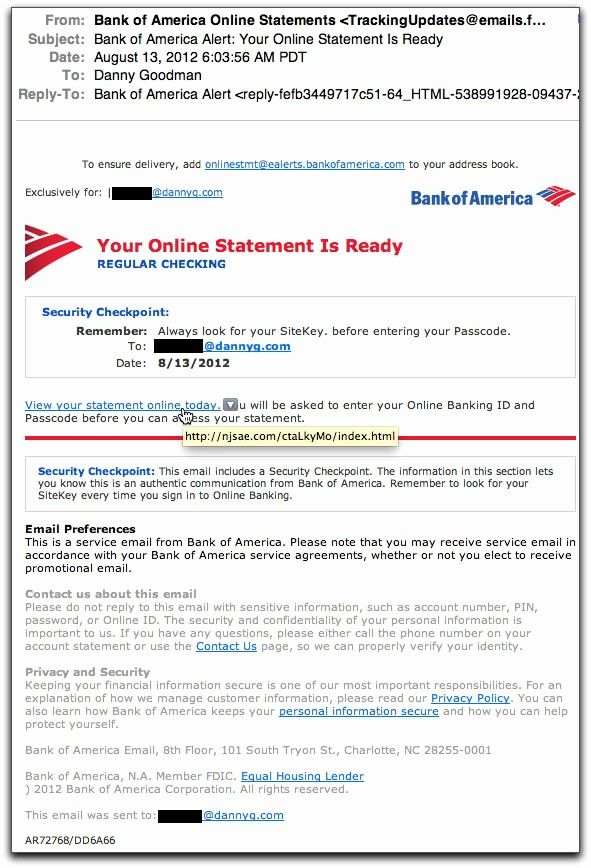 Bank Of America Statement Template Fresh Spam Wars Our Last Best