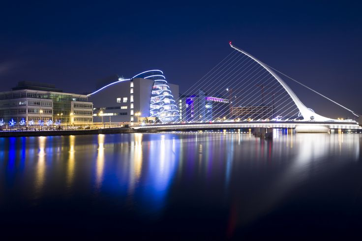 Dublin at nightfall