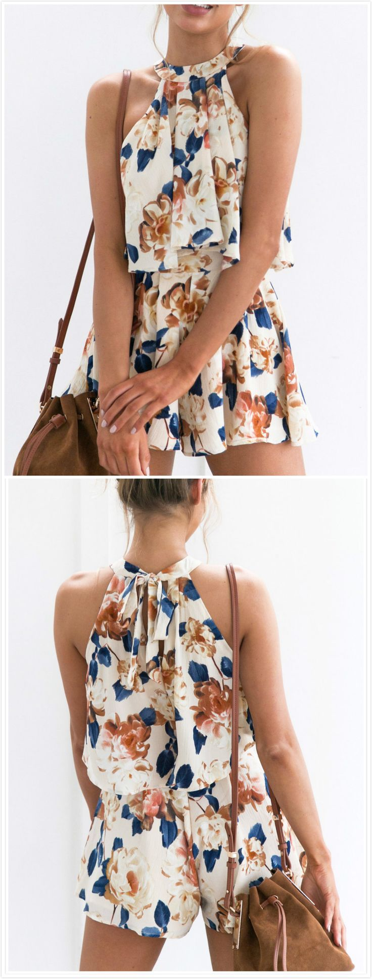 Adorable floral shit and shorts set
