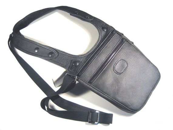 Revolverbag LOUIS 2.0 dark brown holster bag men bag halter men leather bag men