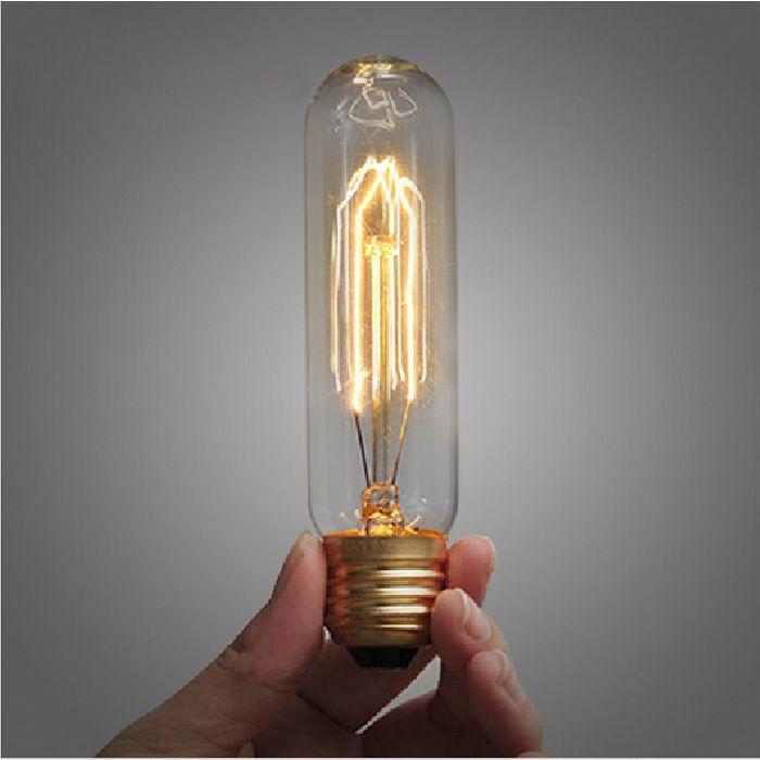 Накаливания лампочки старинные антикварные ретро индустриальном стиле эдисон пробирка лампа накаливания E27 украшения для подвесные светильники(China (Mainland))