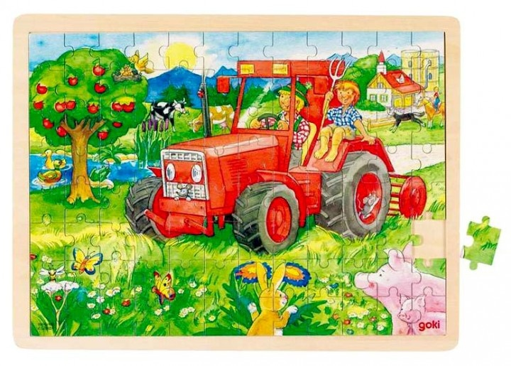 Drevené puzzle Traktor www.maxus.sk/detsky-sen/hry-a-puzzle/puzzle/pre-deti-od-3-rokov/drevene-puzzle-traktor.html