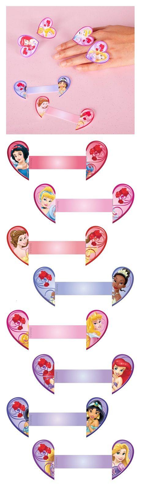 Princess Valentine Heart Rings