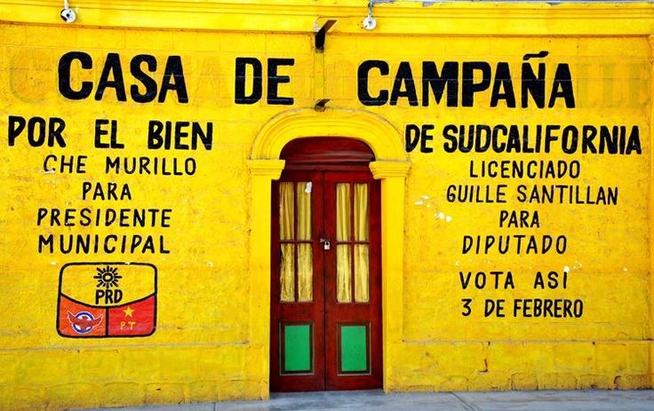 Mexique - Basse Californie - La maison jaune à Mulegé