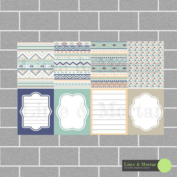 Aztec Pack  Erin Condren Planner Stickers by LimeandMortar on Etsy