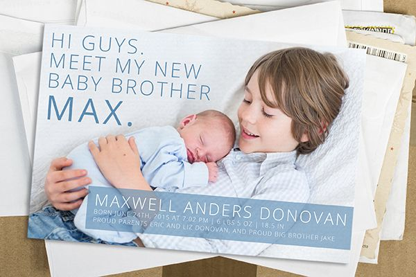 5 Unique Birth Announcement Ideas - Sibling Birth Announcement