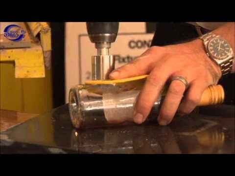 How to drill glass.  Drilling glass bottles, vases, glass windows. I researched…