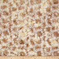 Bali Batiks Sunflower Biscuit In 2020 Bali Batik Fabric