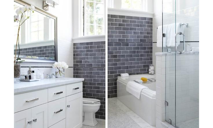 love the grey subway tile bathrooms bath reno pinterest gray subway tiles subway tiles and bath - Bathroom Gray Subway Tile
