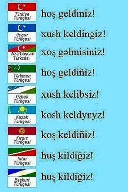 ✿ ❤ Hoş Geldiniz! :) Çeşitli Türk dillerinde....