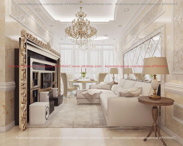 Пример дизайн-проект в (2-х) двухкомнатной ЖК Армейский (Микромегас) Одесса