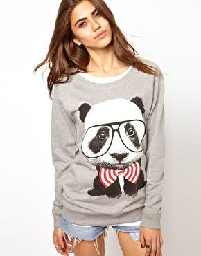 Goodie Two Sleeves Panda Square Sweat Top...tempted to buy